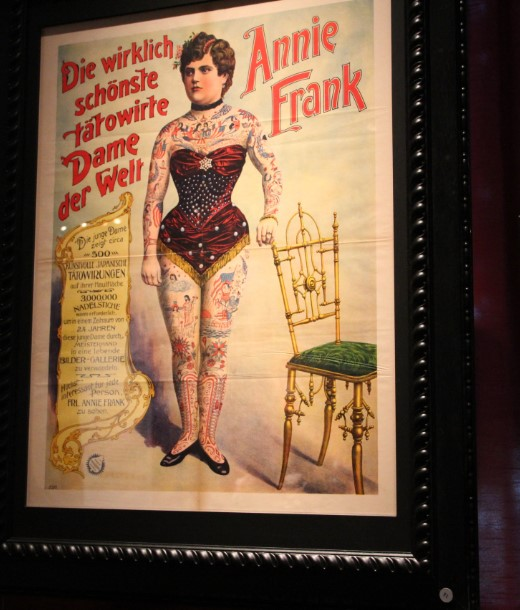 Poster of circus artist Annie Frank from the private collection of Jaap Best of the Circusmuseum